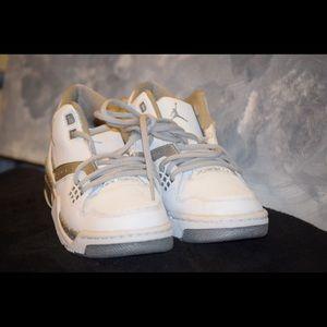 White & Grey Nike Jordan Flight 23 BG GS Size 5/12